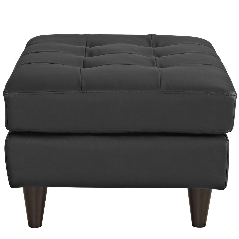 Modway Empress Leather Ottoman - Black