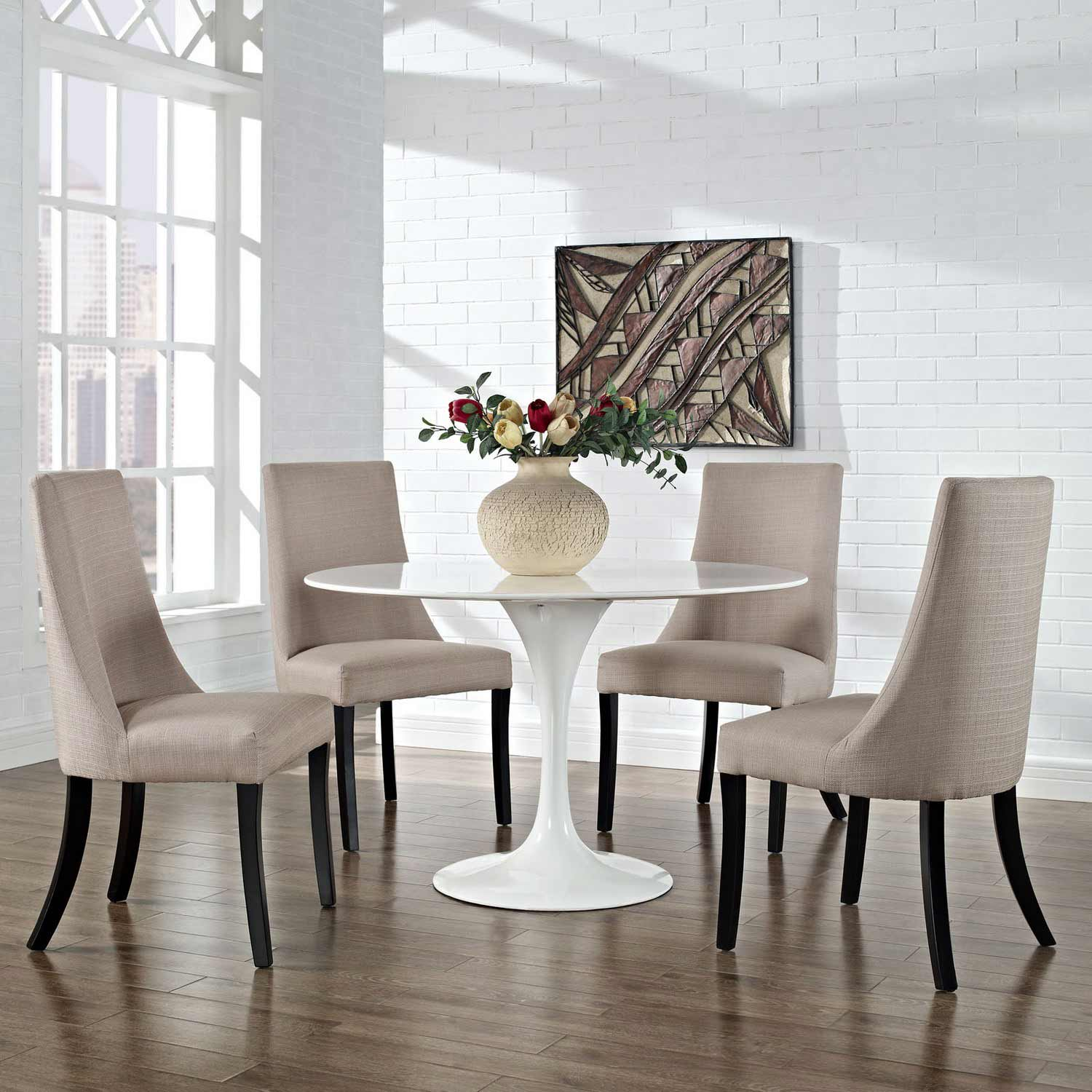 Modway Reverie Dining Side Chair Set of 4 - Beige