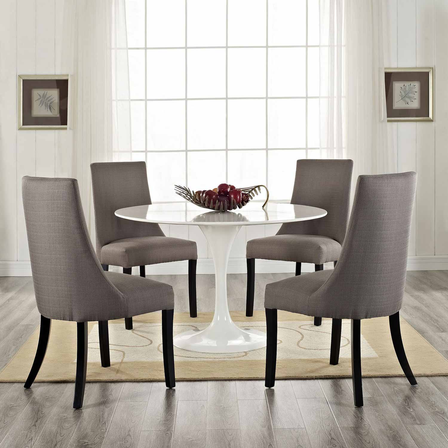 Modway Reverie Dining Side Chair Set of 4 - Gray