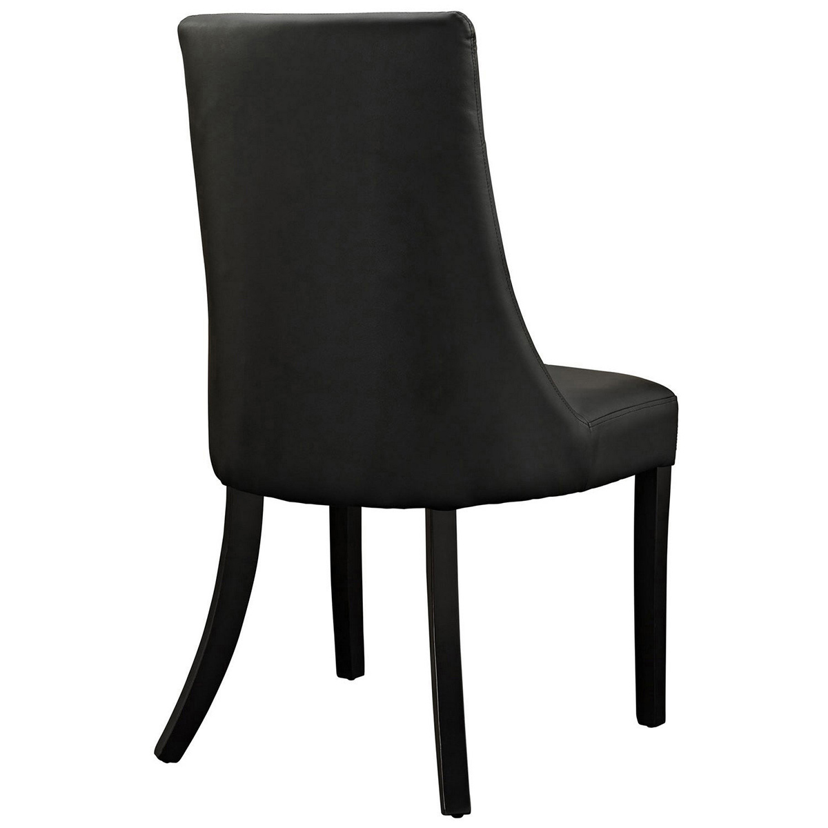 Modway Noblesse Vinyl Dining Chair Set of 4 - Black