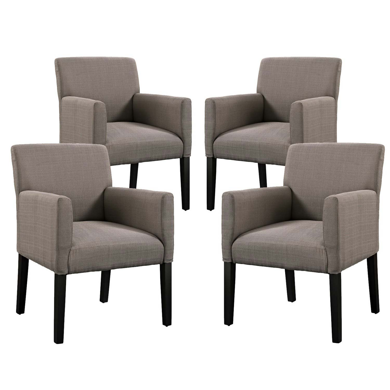 Modway Chloe Armchair Set of 4 - Gray