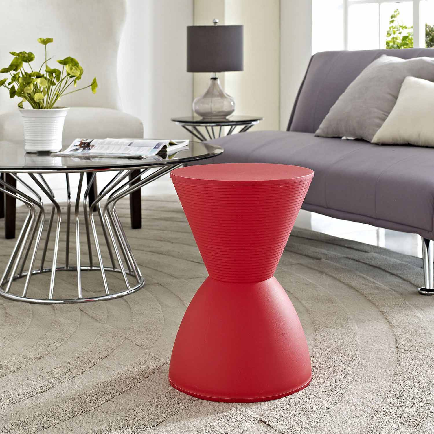 Modway Haste Stool - Red