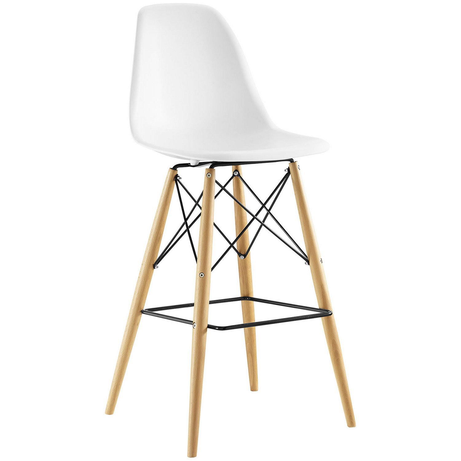 Modway Pyramid Bar Stool - White