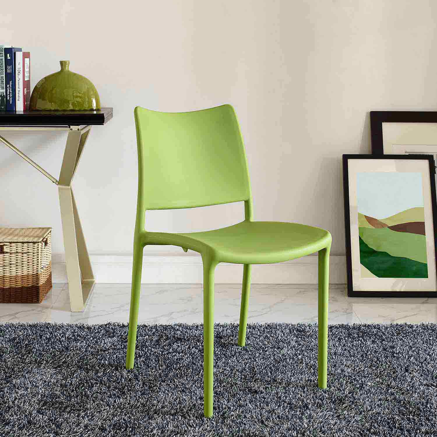 Modway Hipster Dining Side Chair - Green