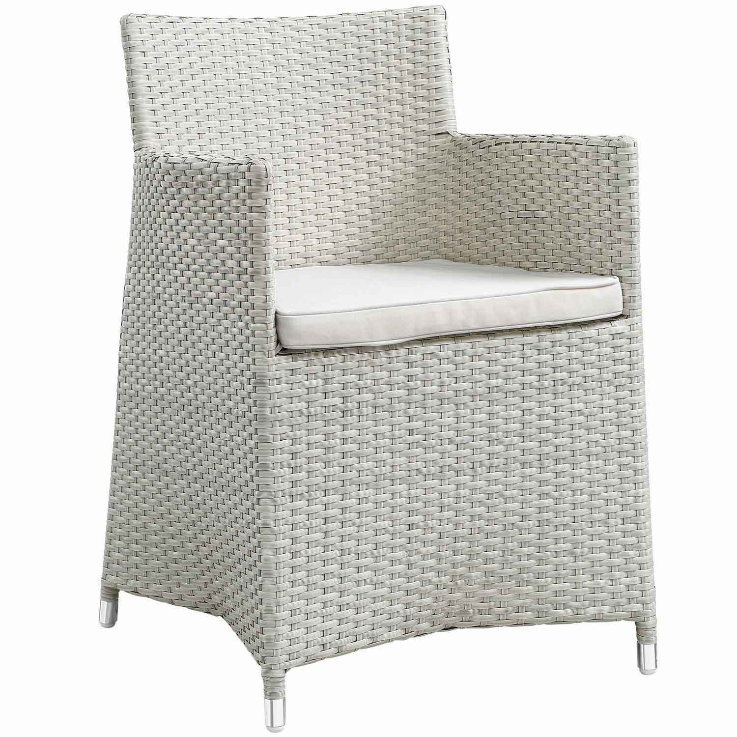 Modway Junction 3 Piece Outdoor Patio Dining Set - Gray/White