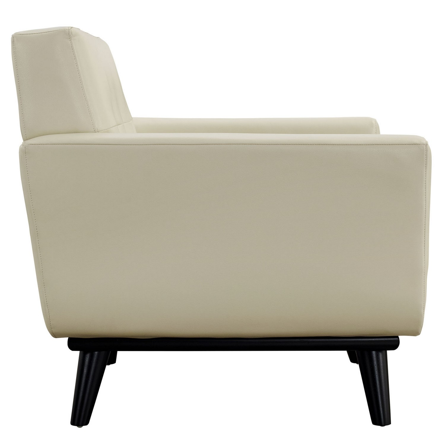 Modway Engage 2 Piece Leather Living Room Set - Beige