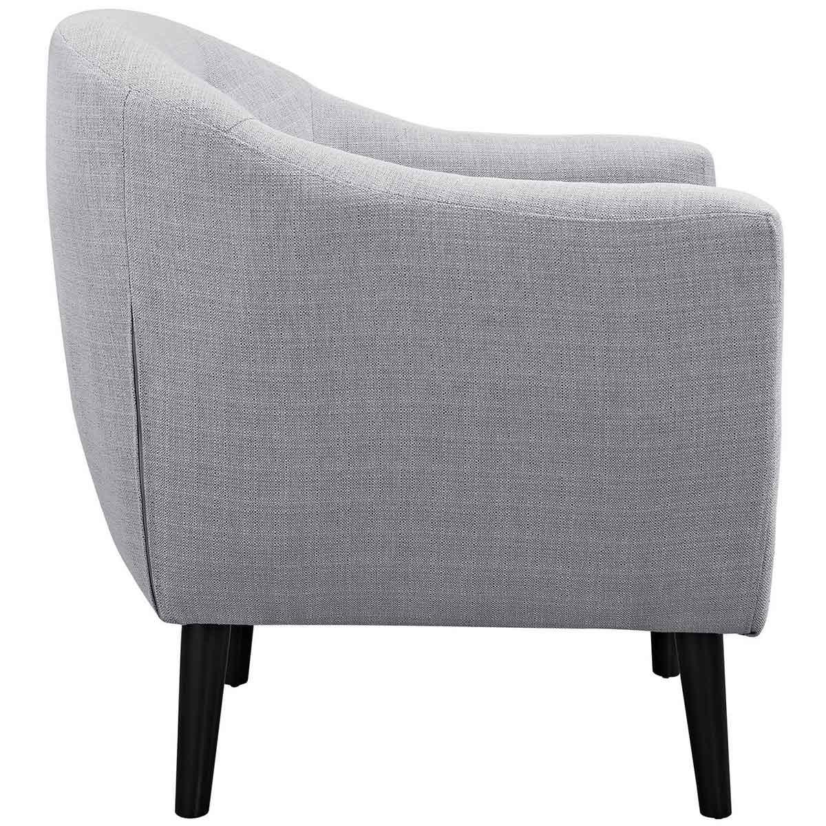 Modway Wit 2 Piece Living Room Set - Light Gray