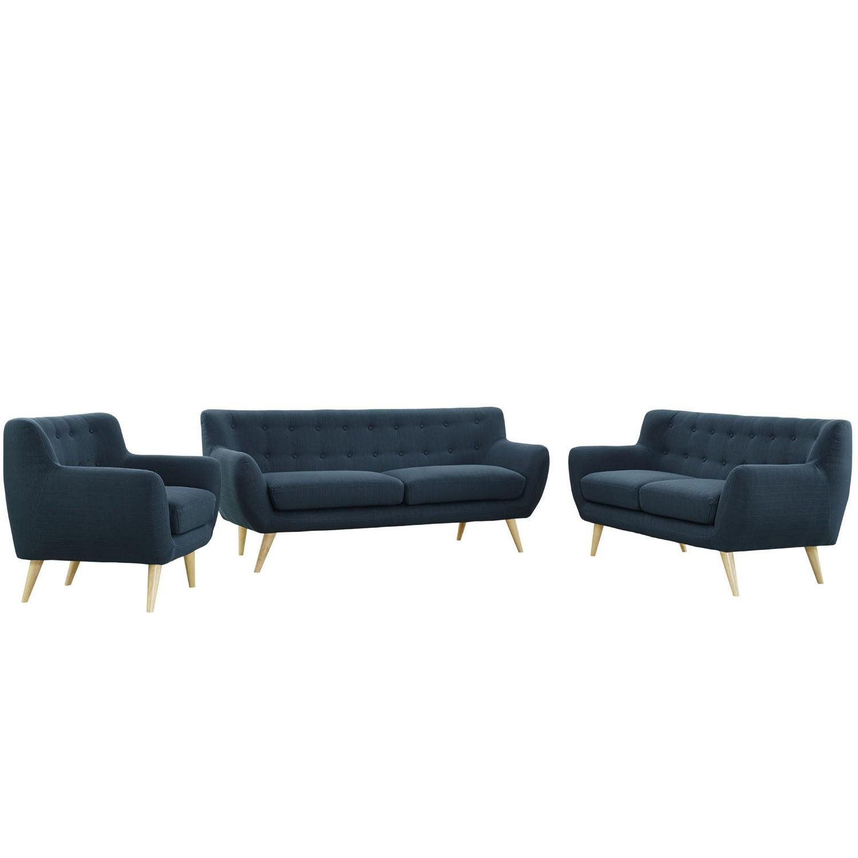 Modway Remark 3 Piece Living Room Set - Azure