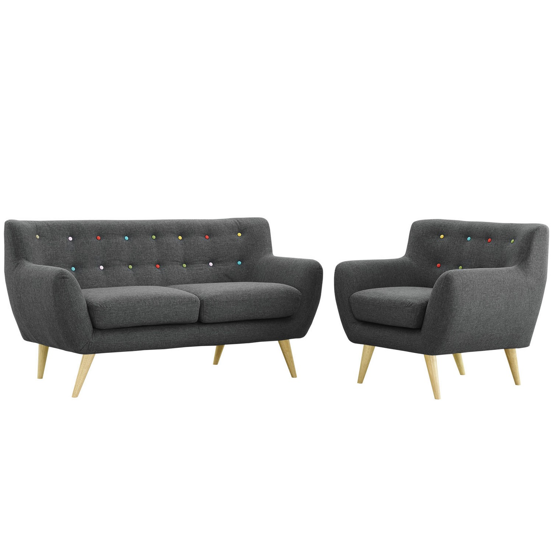 Modway Remark 2 Piece Living Room Set - Gray