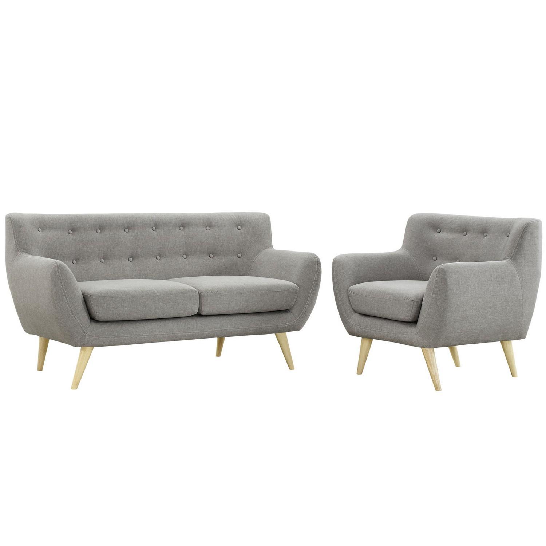 Modway Remark 2 Piece Living Room Set - Light Gray