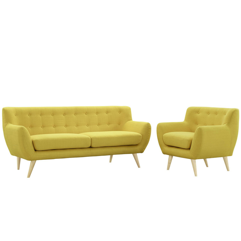 Modway Remark 2 Piece Living Room Set - Sunny