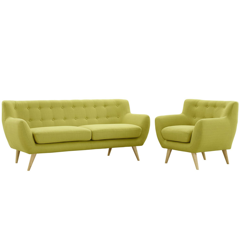 Modway Remark 2 Piece Living Room Set - Wheat