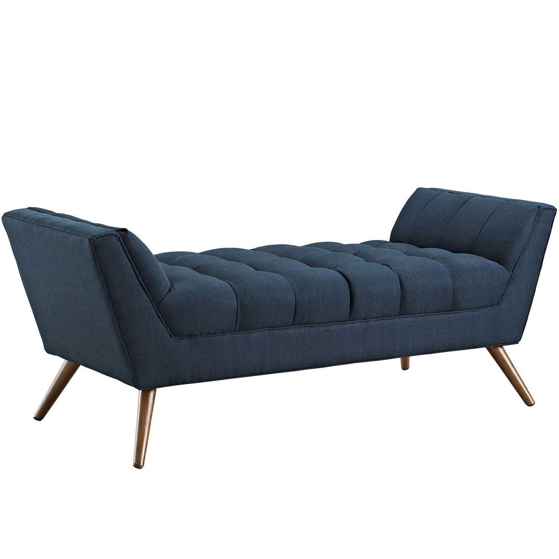 Modway Response Medium Fabric Bench - Azure
