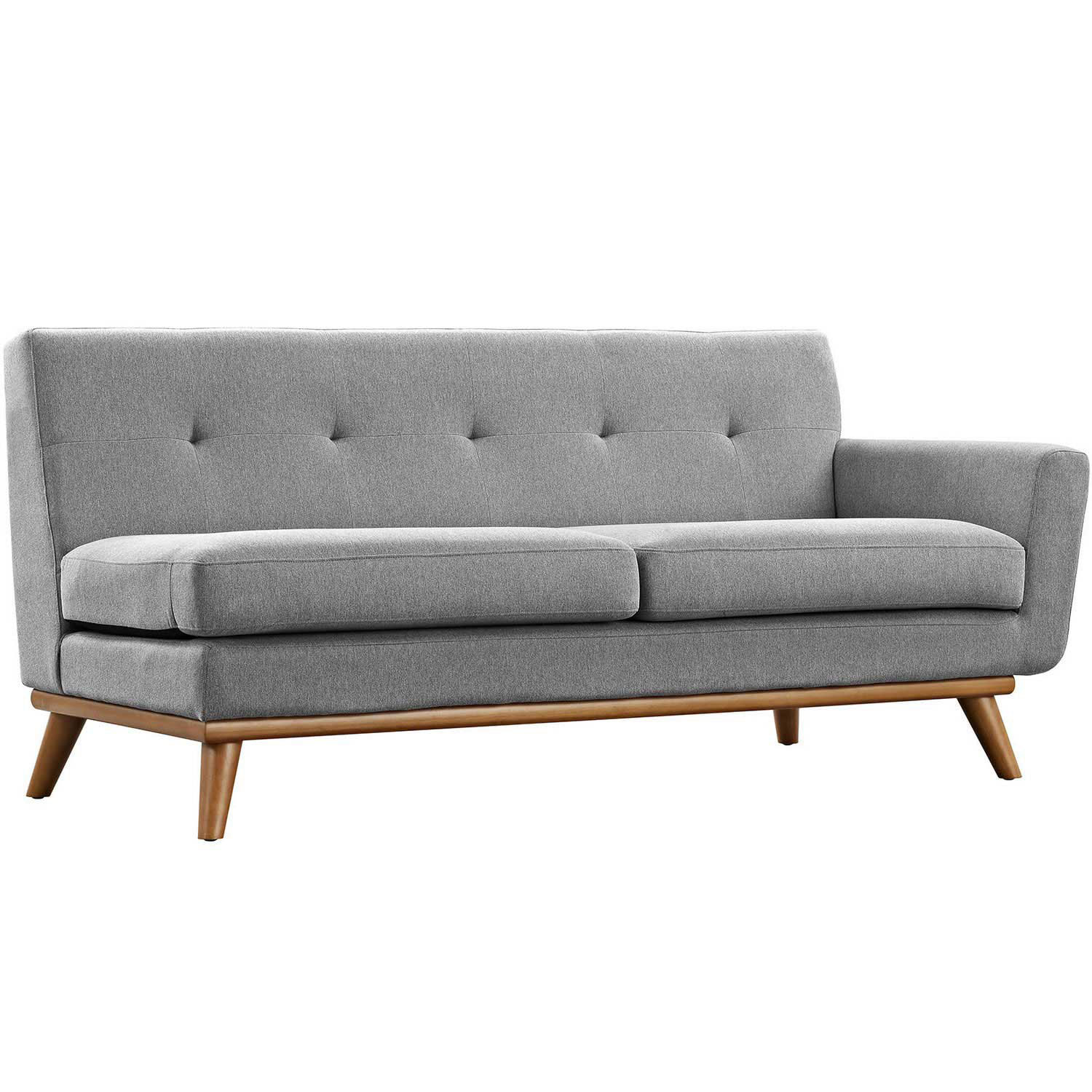Modway Engage Right Arm Loveseat - Expectation Gray