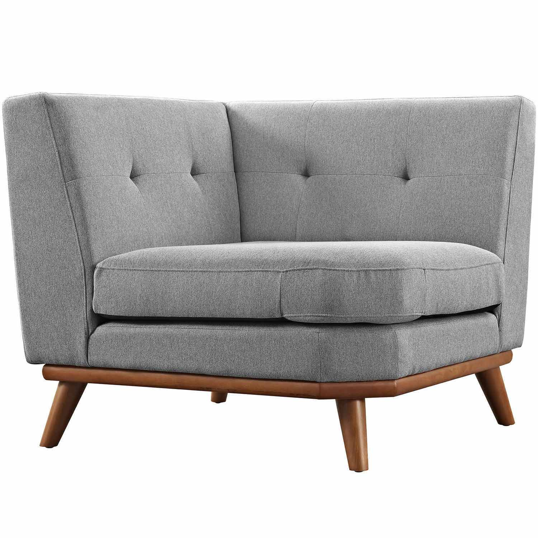Modway Engage Corner Sofa - Expectation Gray
