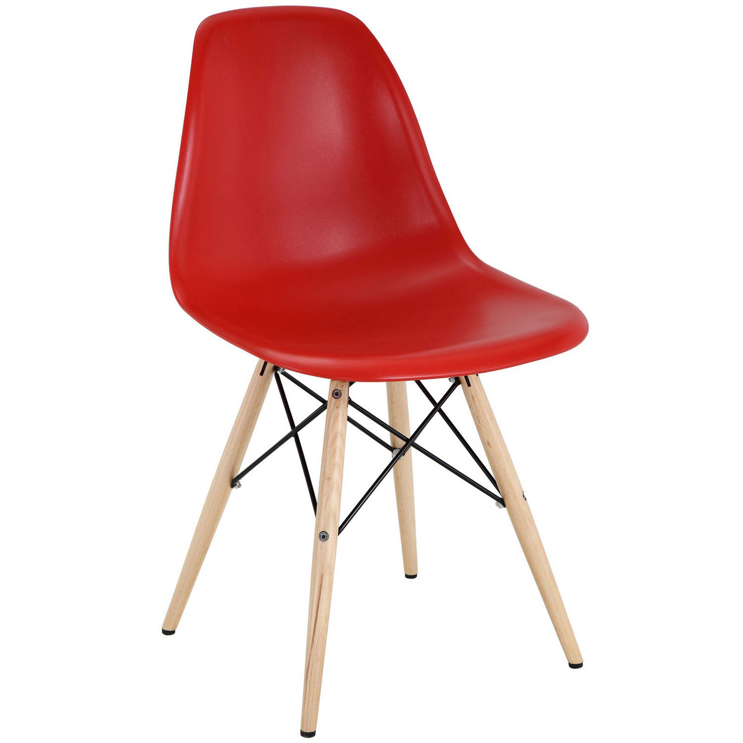 Modway Pyramid Dining Side Chair Red Mw Eei 180 Red At
