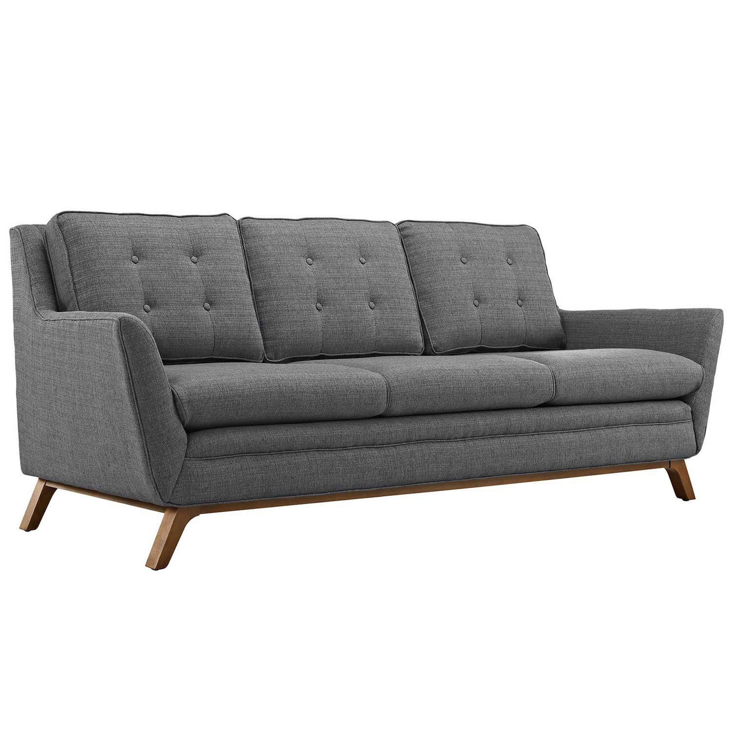 Modway Beguile Fabric Sofa - Gray