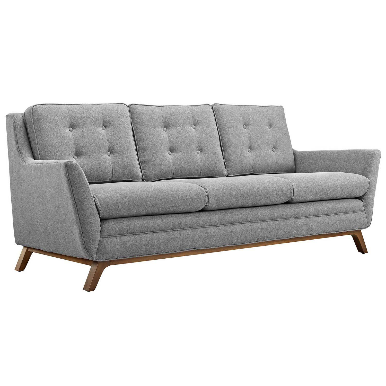 Modway Beguile Fabric Sofa - Expectation Gray