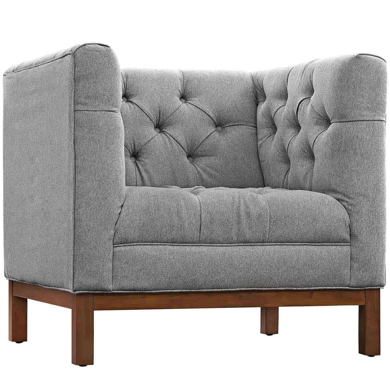 Modway Panache Fabric Arm Chair - Expectation Gray