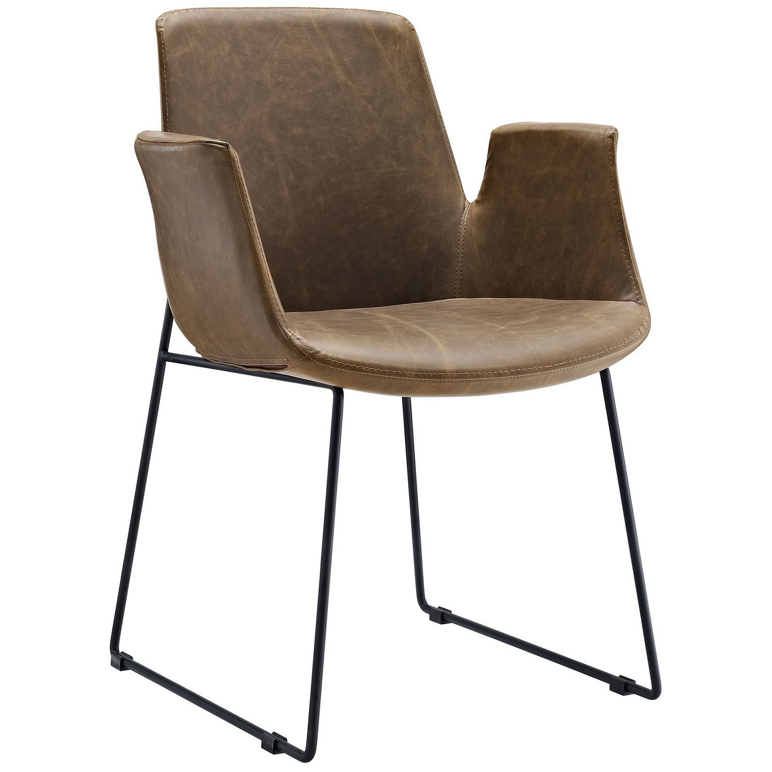 Modway Aloft Dining Arm Chair - Brown