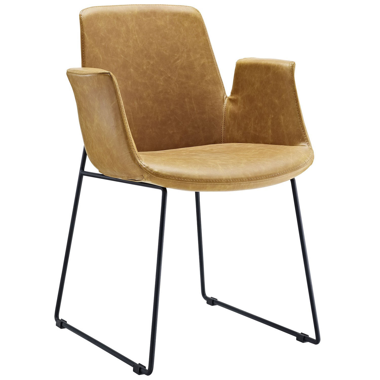 Modway Aloft Dining Arm Chair - Tan