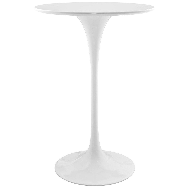 Modway Lippa 28-inch Wood Bar Table - White