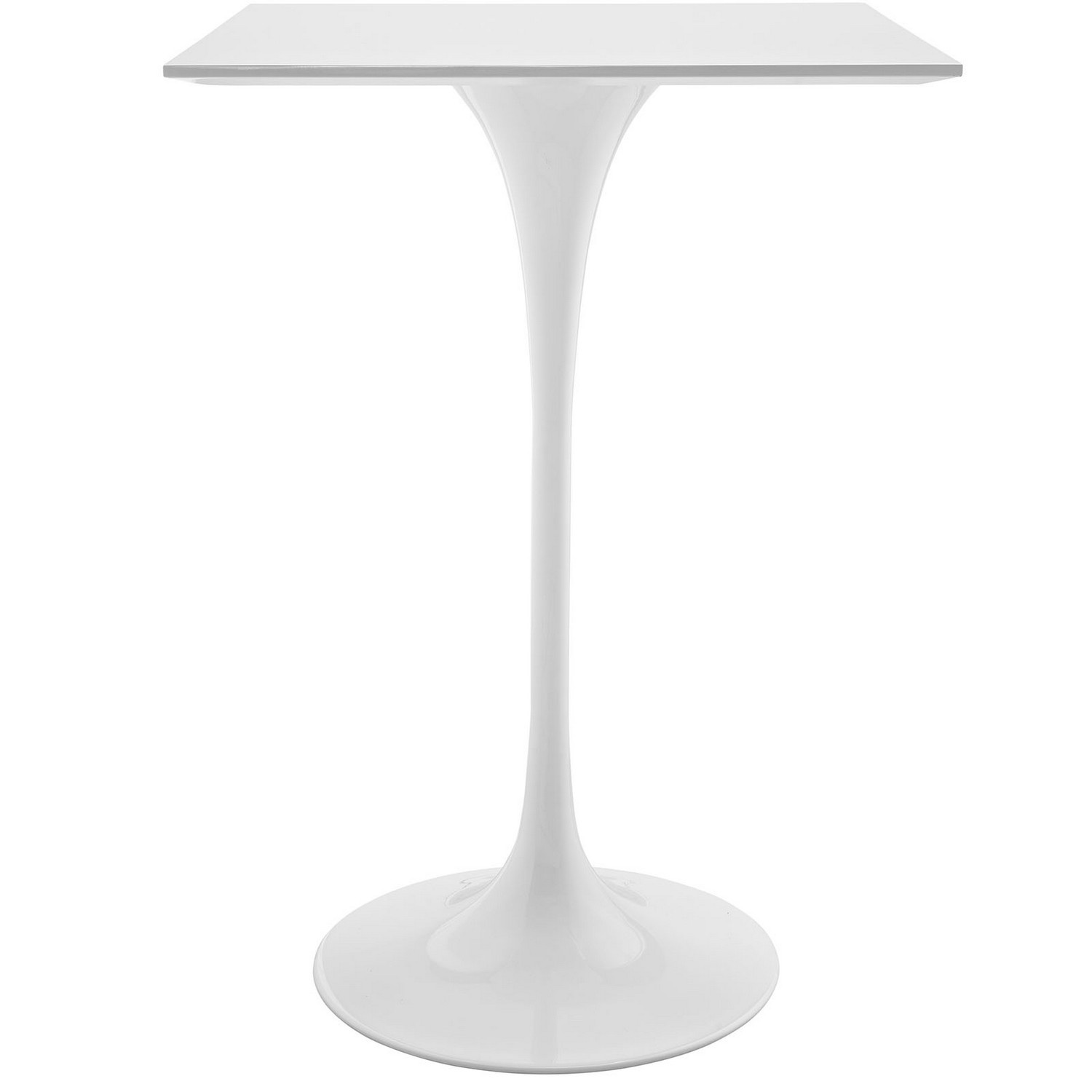 Modway Lippa 28-inch Square Wood Top Bar Table - White