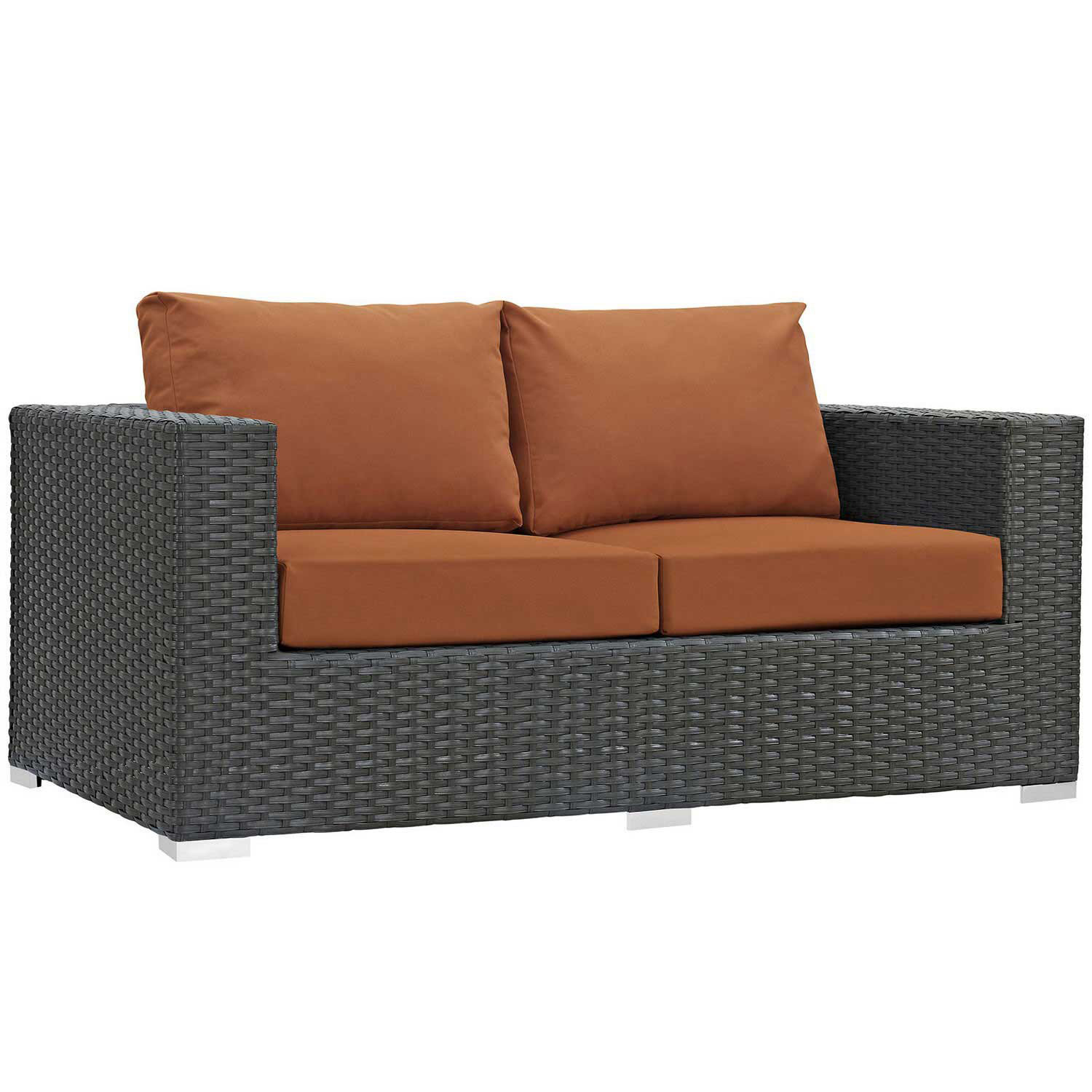 Modway Sojourn Outdoor Patio SunbrellaLoveseat - Canvas Tuscan