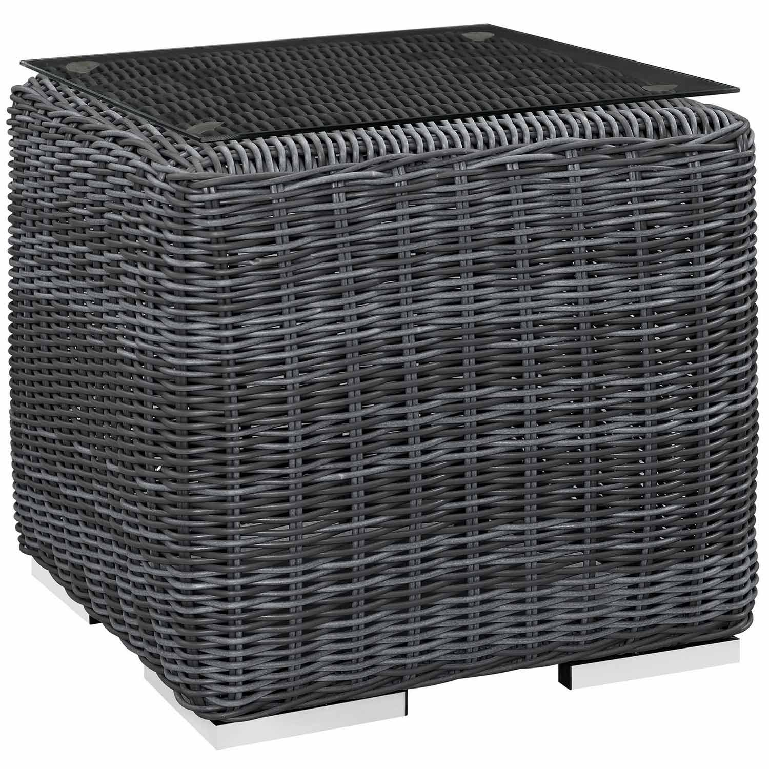 Modway Summon Outdoor Patio Side Table - Gray