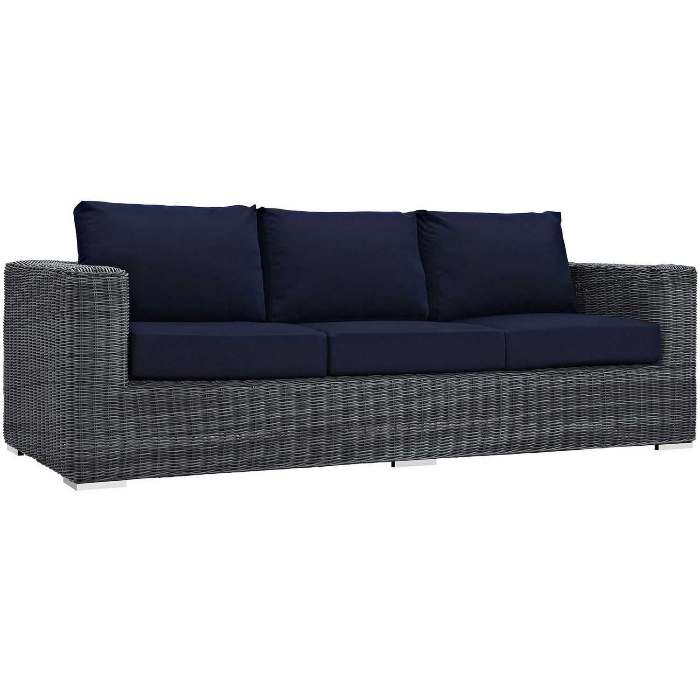 Modway Summon Outdoor Patio Sunbrella Sofa - Canvas Navy
