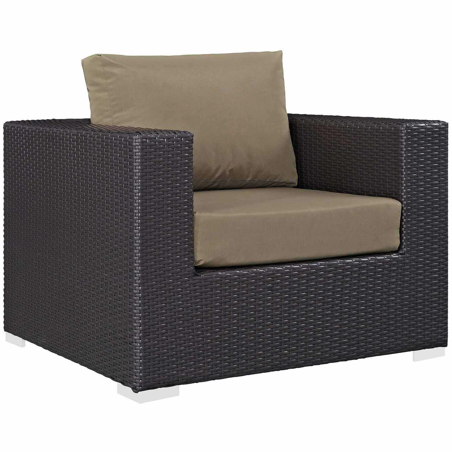 Modway Convene Outdoor Patio Arm Chair - Espresso Mocha