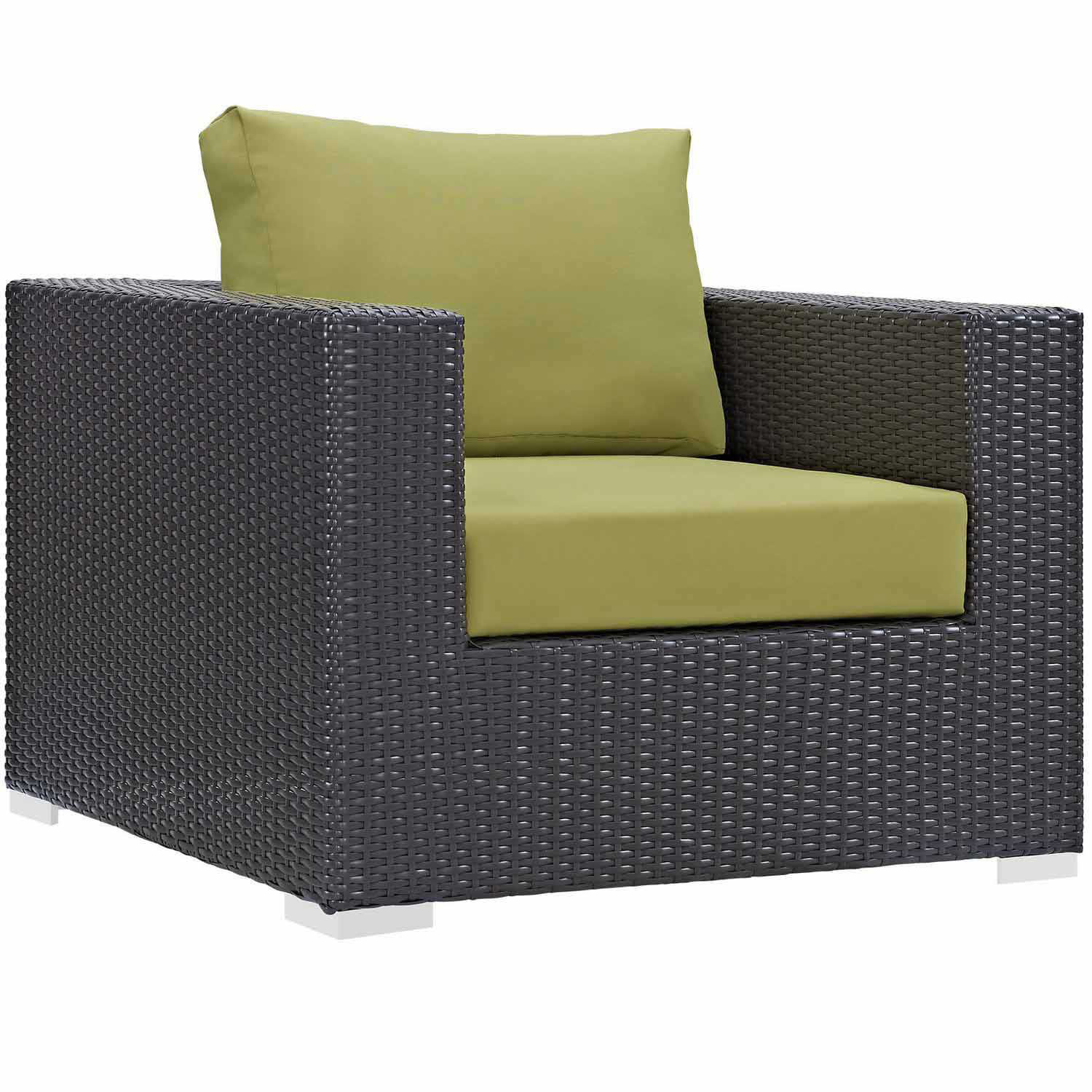 Modway Convene Outdoor Patio Arm Chair - Espresso Peridot