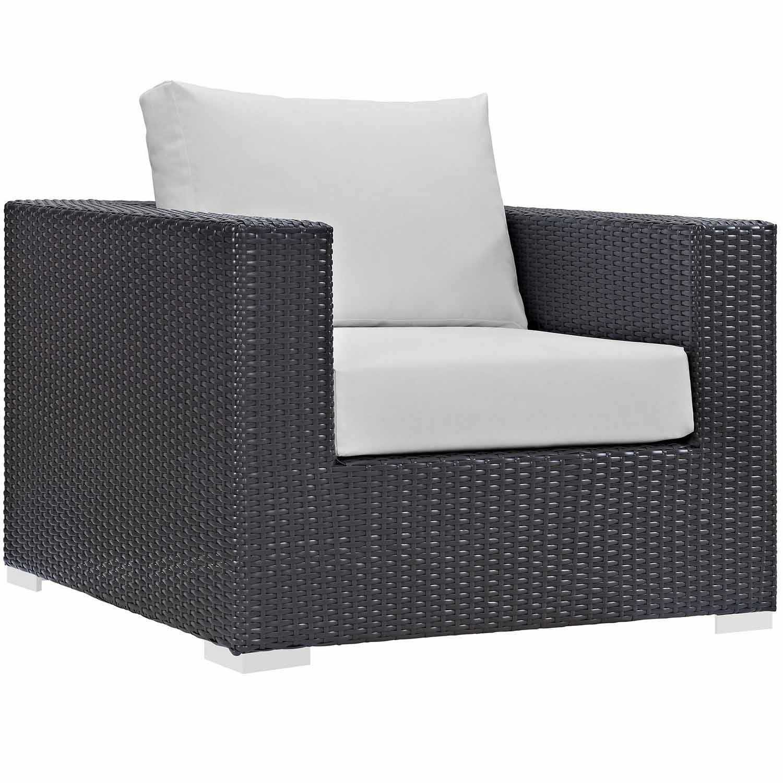 Modway Convene Outdoor Patio Arm Chair - Espresso White Espresso White