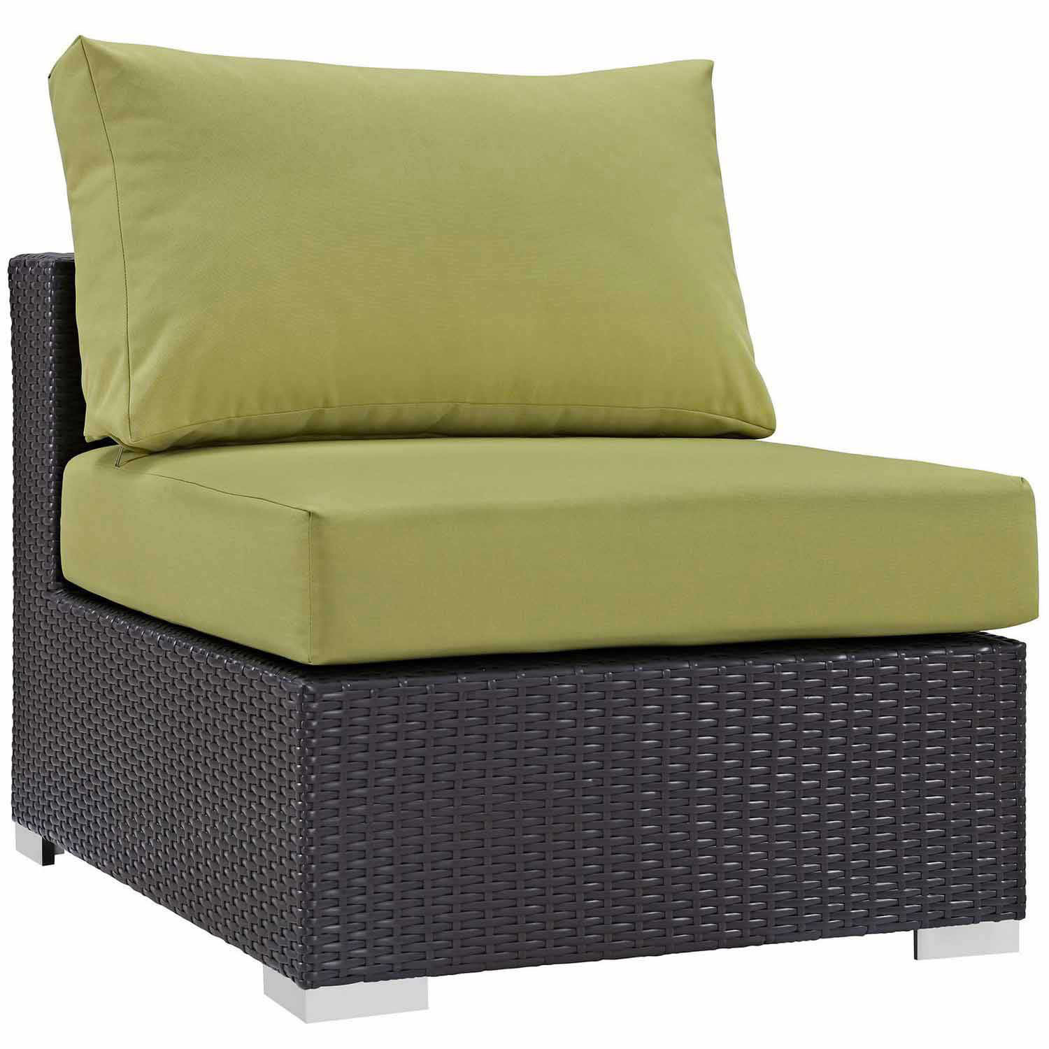 Modway Convene Outdoor Patio Armless - Espresso Peridot