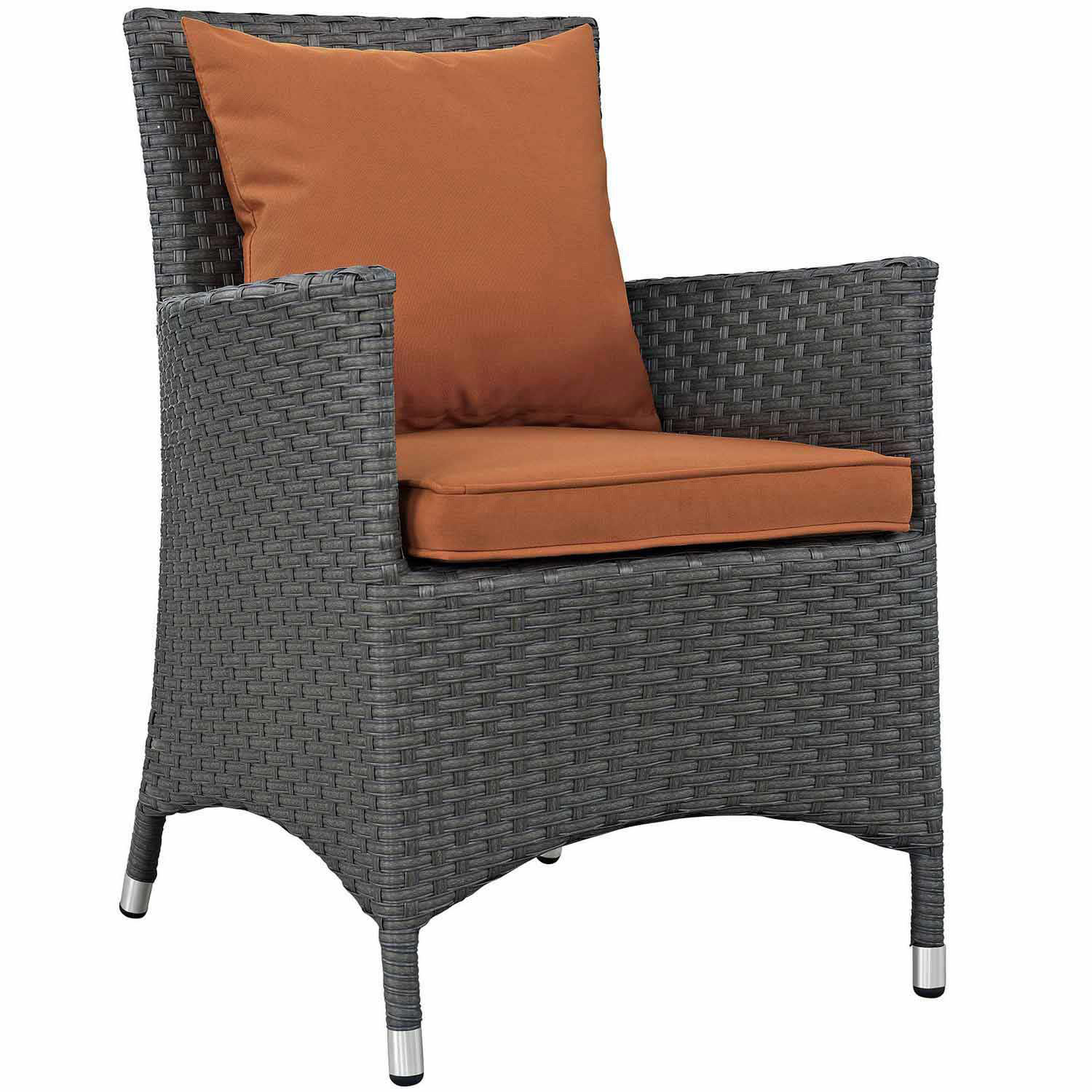 Modway Sojourn Dining Outdoor Patio Sunbrella Arm Chair - Canvas Tuscan