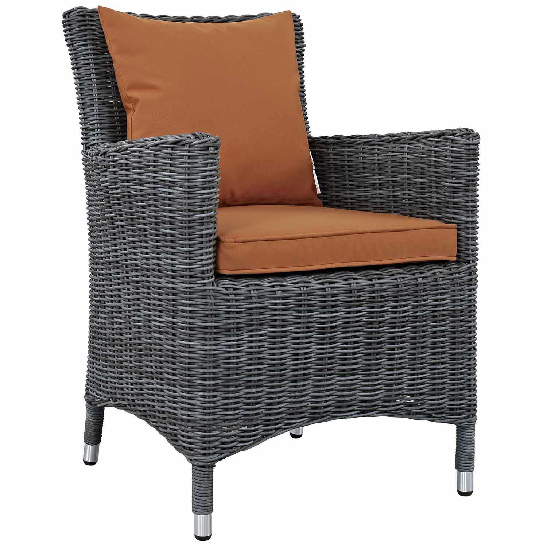 Modway Summon Dining Outdoor Patio Sunbrella Arm Chair - Canvas Tuscan
