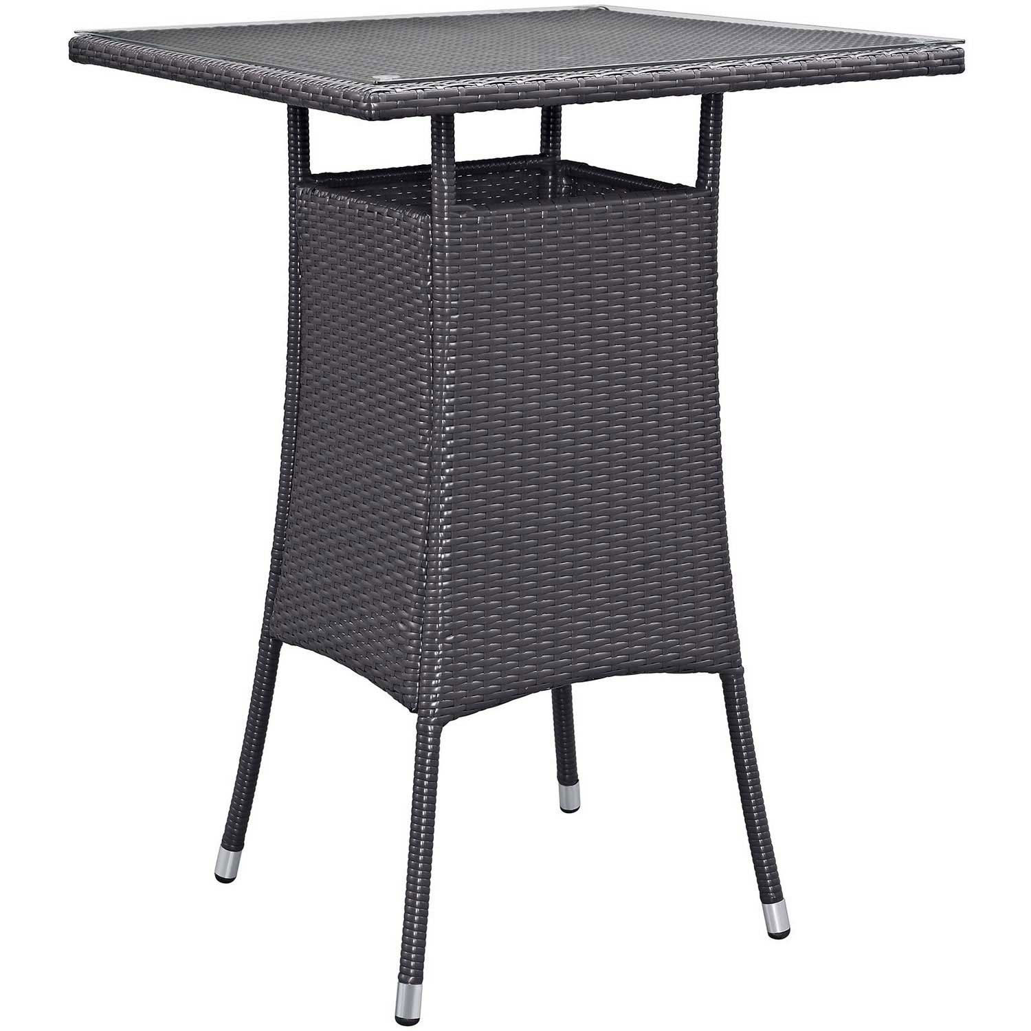 Modway Convene Small Outdoor Patio Bar Table - Espresso