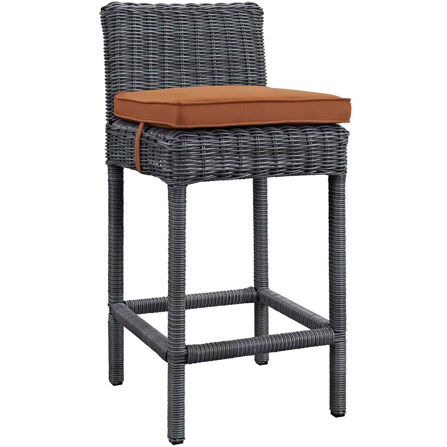 Modway Summon Outdoor Patio Sunbrella Bar Stool - Canvas Tuscan