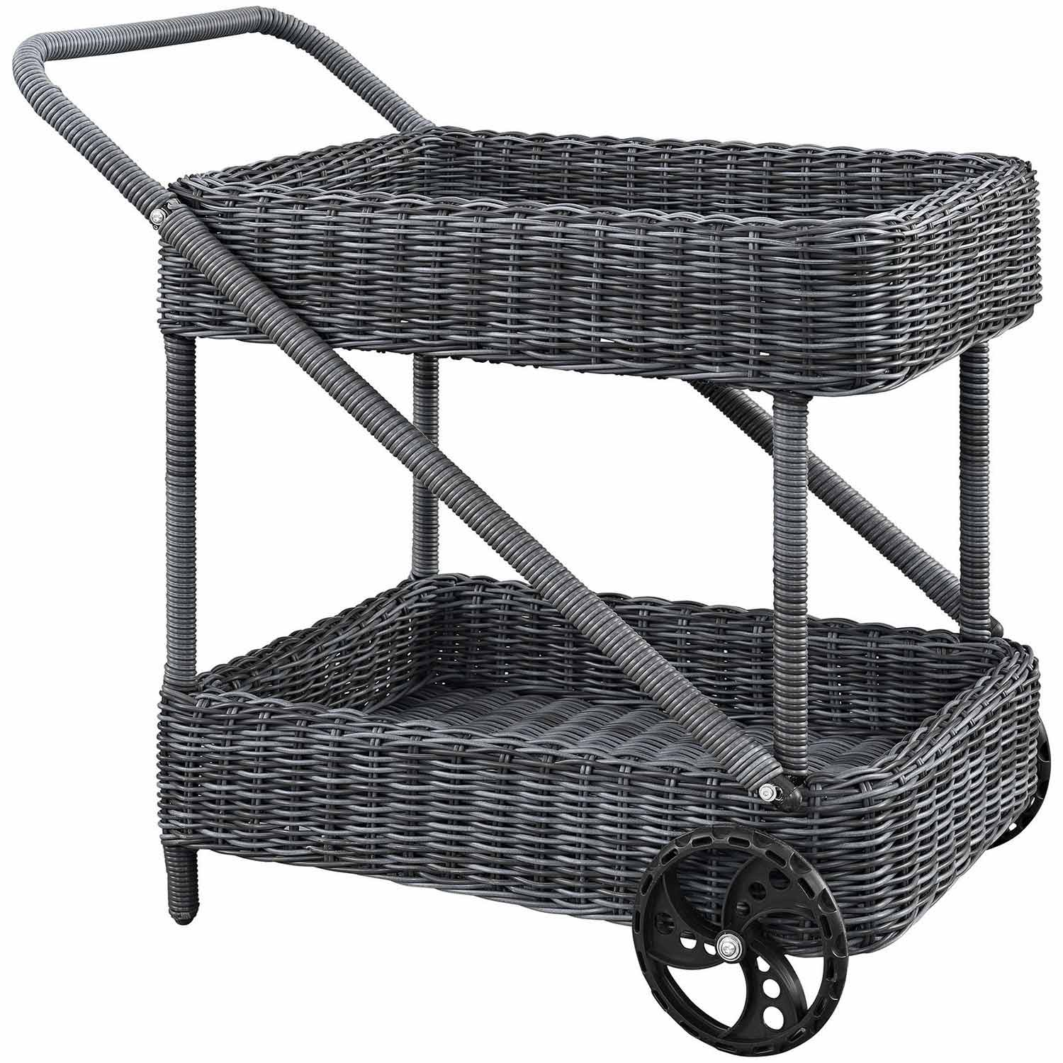 Modway Summon Outdoor Patio Beverage Cart - Gray