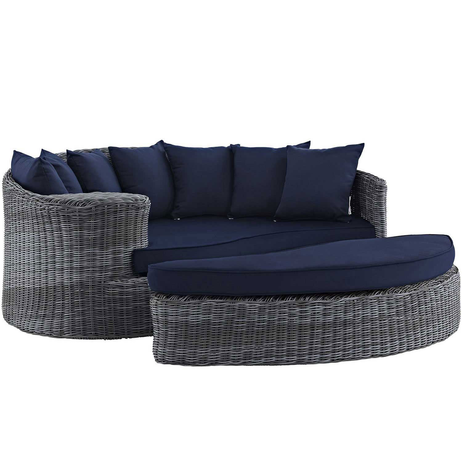 Modway Summon Outdoor Patio Sunbrella Daybed - Canvas Navy