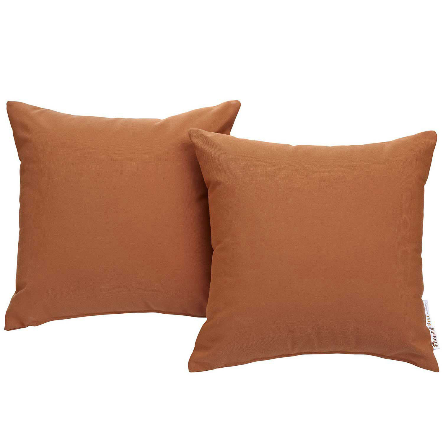 Modway Summon 2 Piece Outdoor Patio Pillow Set - Tuscan