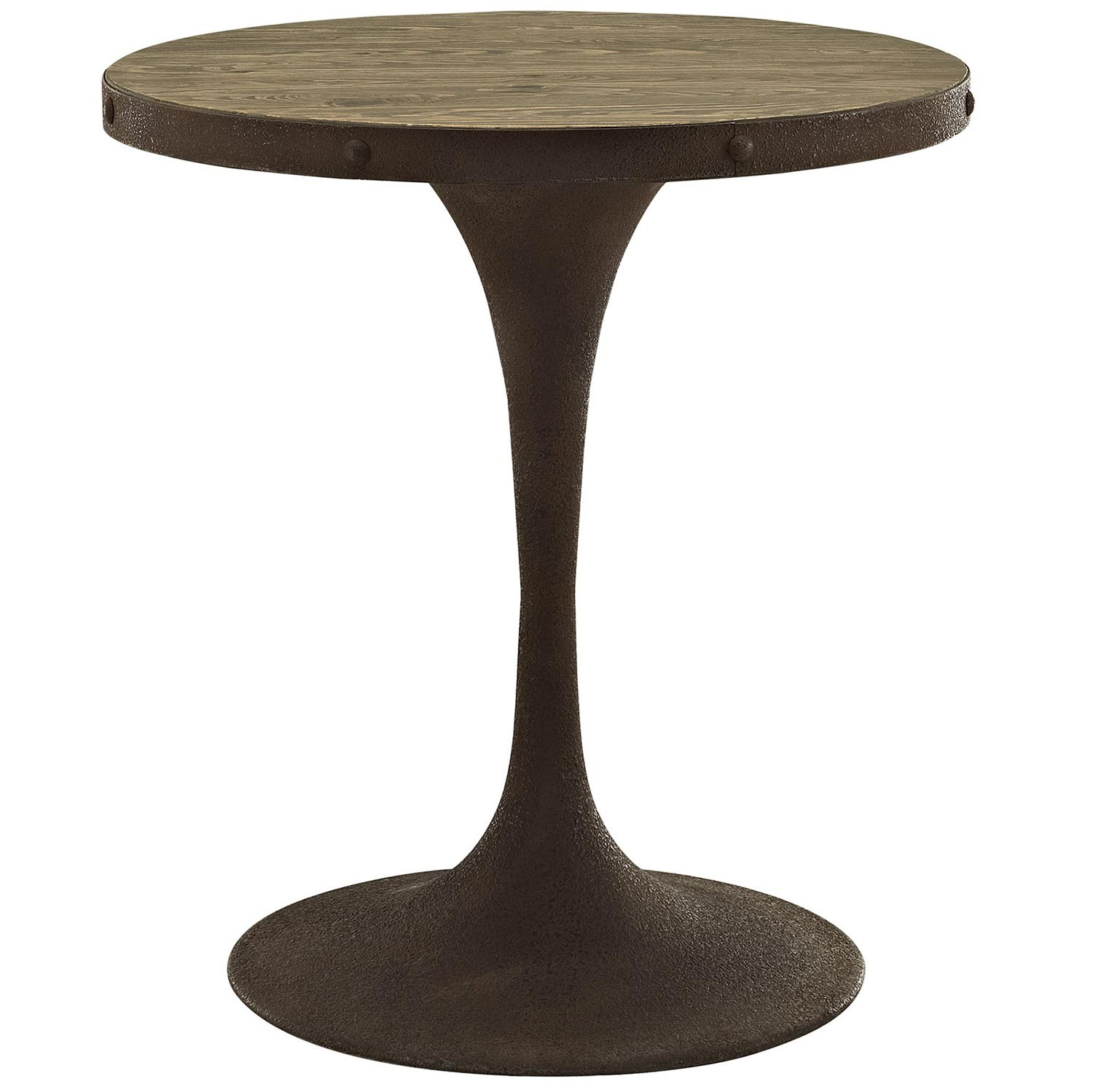 Modway Drive 28-inch Wood Top Dining Table - Brown