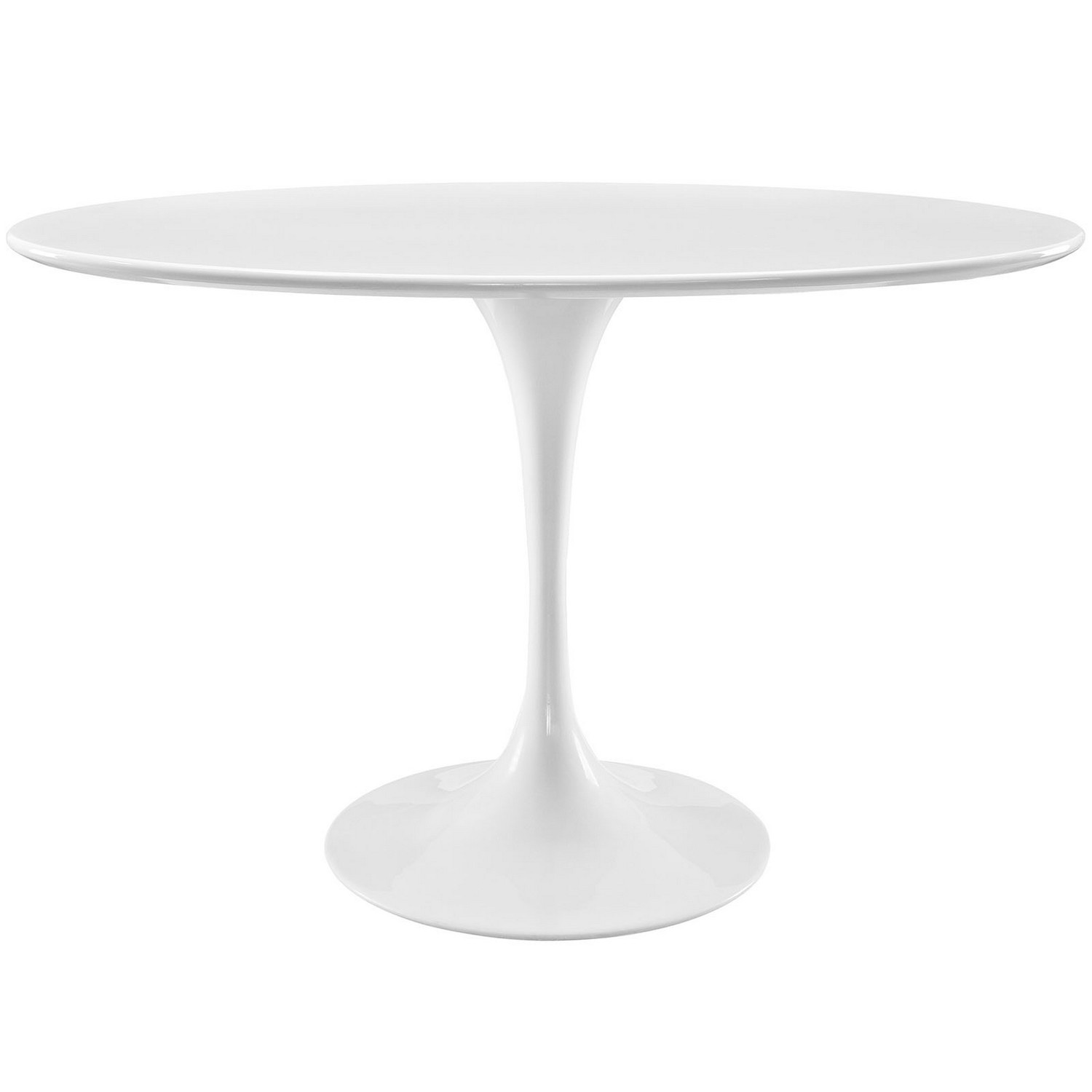 Modway Lippa 48-inch Oval-Shaped Wood Top Dining Table - White