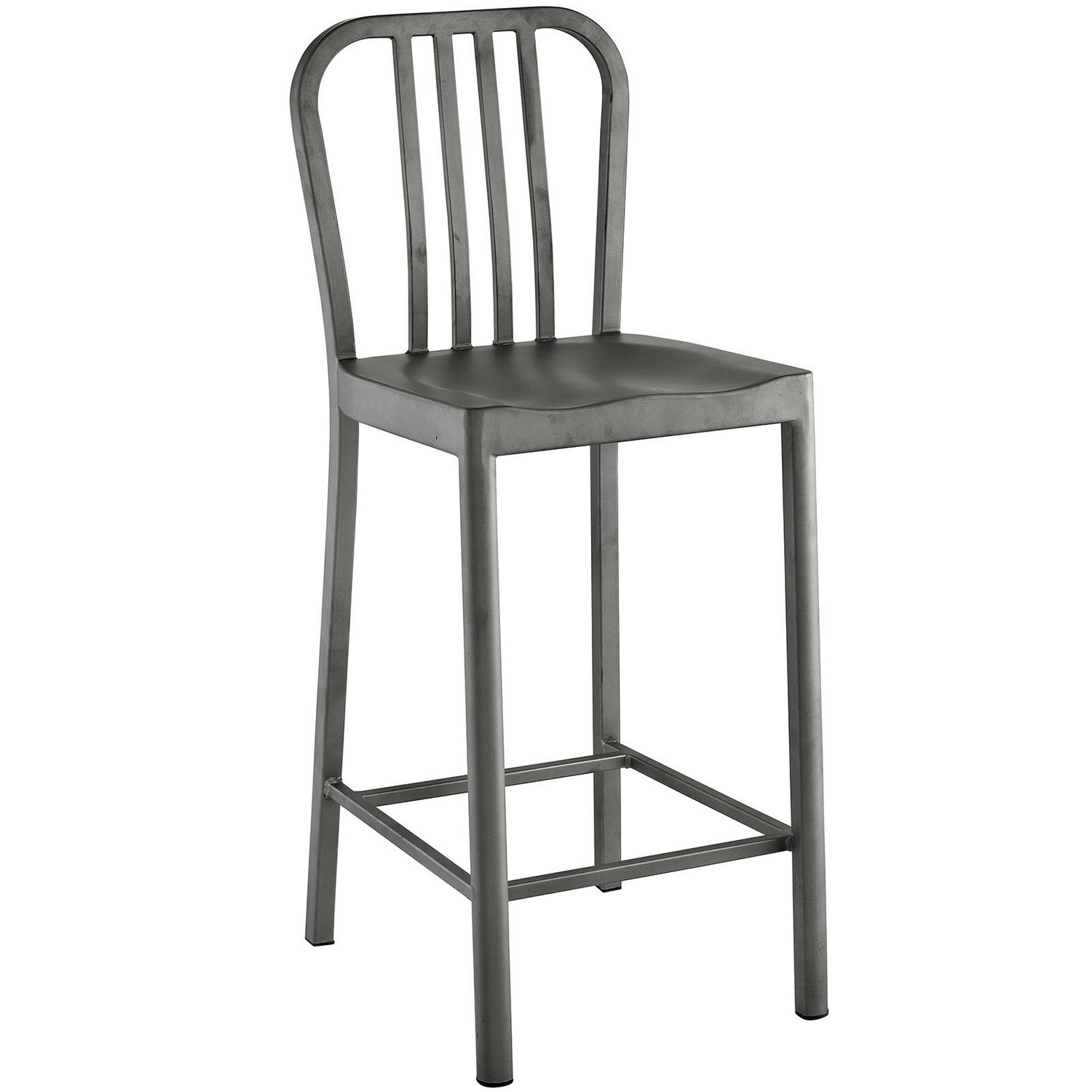 Modway Clink Counter Stool - Silver