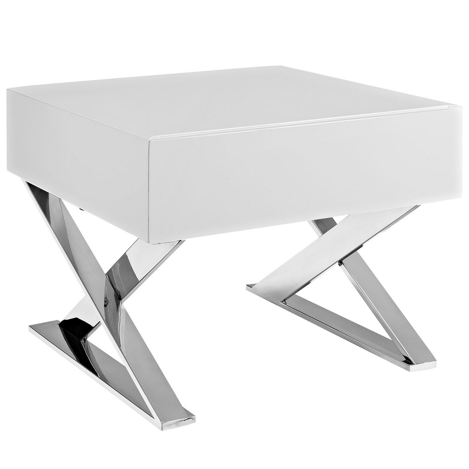 Modway Sector Nightstand - White