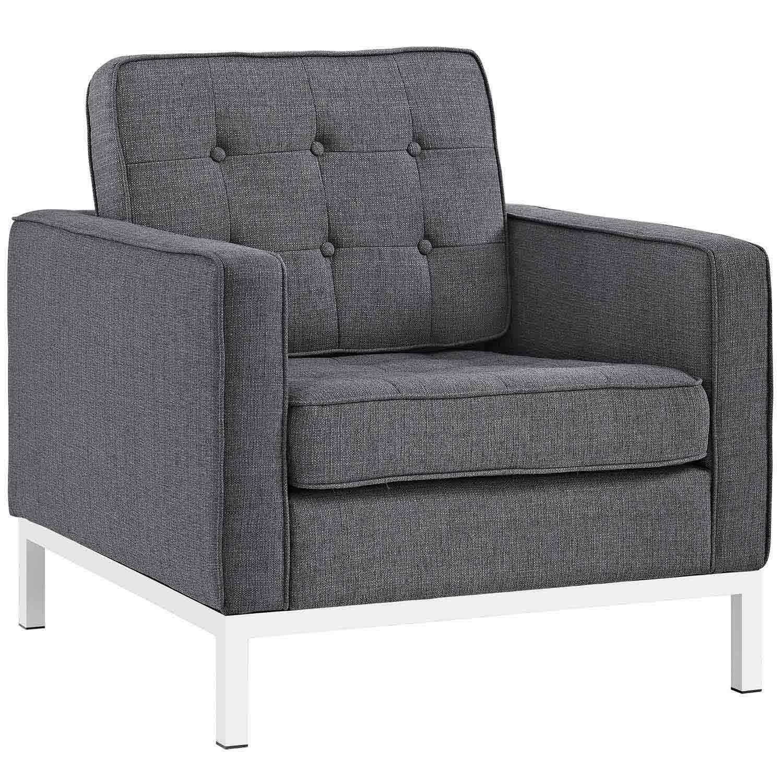 Modway Loft Fabric Arm Chair - Gray