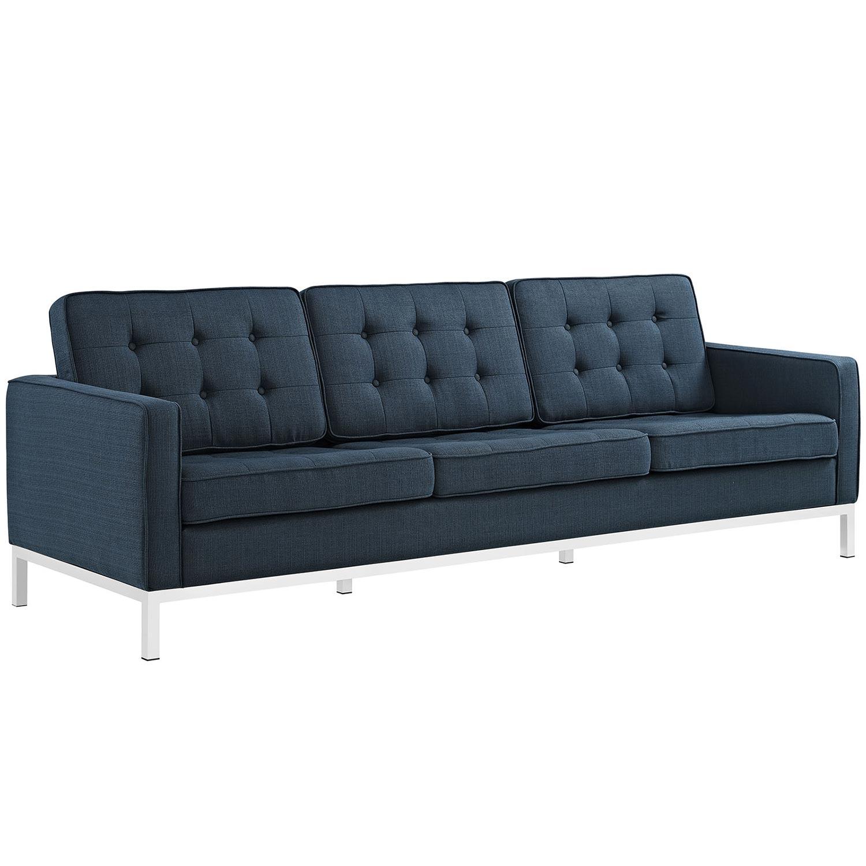 Modway Loft Fabric Sofa Set - Azure