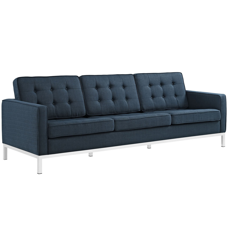 Modway Loft Fabric Sofa - Azure