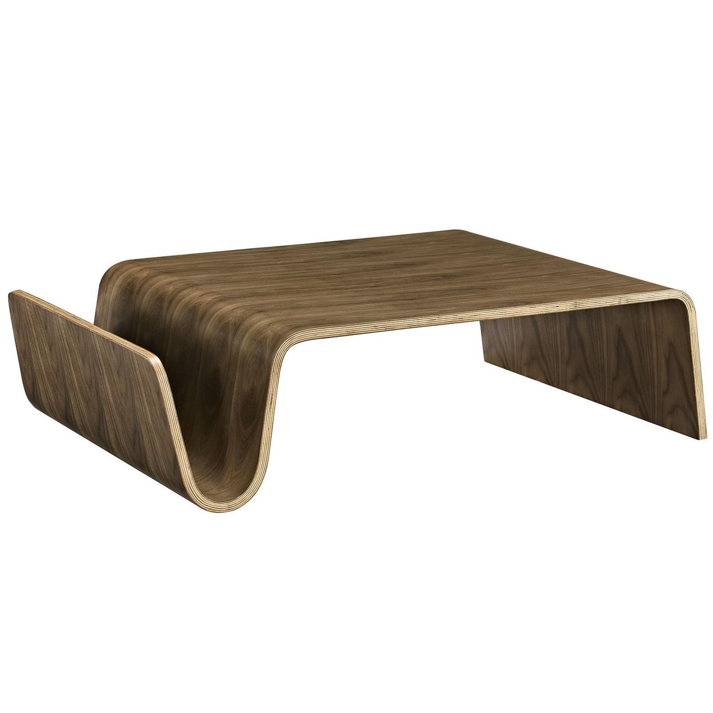 Modway Polaris Wood Coffee Table - Walnut