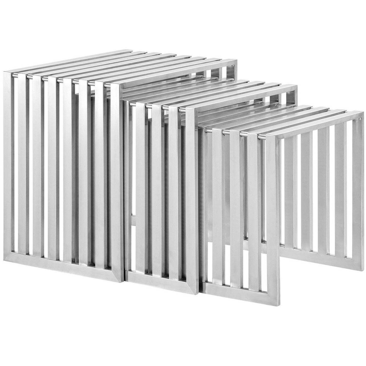 Modway Duct Nesting Table - Silver
